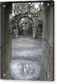 Glendalough Monestery Ireland Priest's House Acrylic Print by Richard Singleton