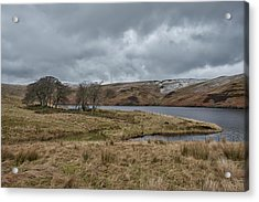 Acrylic Print featuring the photograph Glendevon Reservoir In Scotland by Jeremy Lavender Photography