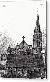 Glenmuick Church Acrylic Print by Vincent Alexander Booth