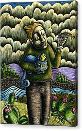 Glenn And The Queen Mary Acrylic Print by Teresa Nolen Pratt