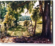 Glen's Pasture Acrylic Print by Marion  Hylton