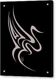Gliding Swan Acrylic Print