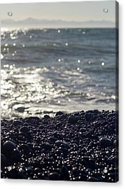 Glistening Rocks And The Ocean Acrylic Print
