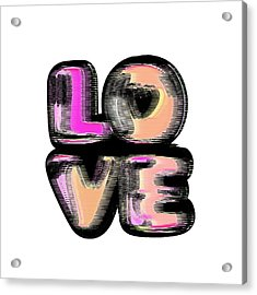 Glitch Acrylic Print