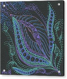 Glitter Flower Acrylic Print by Jan Steinle