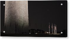 Glmpse Of The Washington Monument Acrylic Print