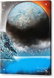 Acrylic Print featuring the painting Global 4676 by Greg Moores