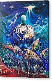 Planet  Earth - Our Family Tree Acrylic Print