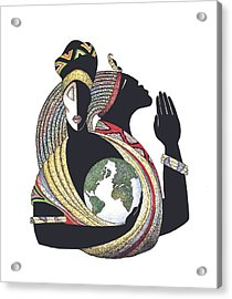 Global Love Acrylic Print by Albert and Simone Fennell