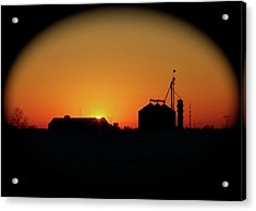 Global Sunset Acrylic Print by Sue Stefanowicz