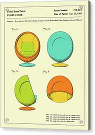Globe Chair 1968 Acrylic Print by Jazzberry Blue