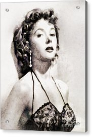 Gloria Grahame, Vintage Actress Acrylic Print by John Springfield