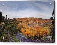Glorious Autumn Lutsen Mountain Resort North Shore Minnesota Acrylic Print