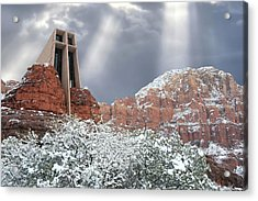 Acrylic Print featuring the photograph Glorious Chapel Of The Holy Cross by Donna Kennedy