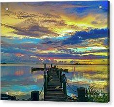 Glorious Dock Acrylic Print
