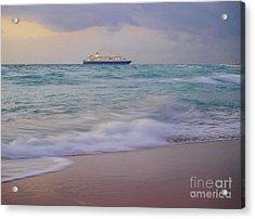 Glorious Emerald Sea Acrylic Print by E Luiza Picciano