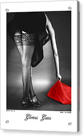 Glorious Gams - Seeing Red Acrylic Print by Jerry Taliaferro