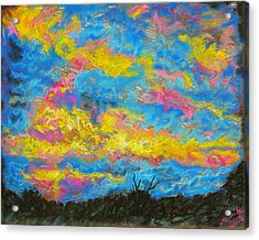 Glorious Sunset 2 Acrylic Print by Laura Heggestad