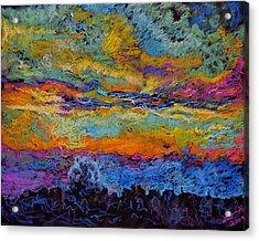 Glorious Sunset 3 Acrylic Print by Laura Heggestad