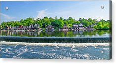 Glorious View From Fairmount Dam - Boathouse Row Philadelphia Acrylic Print