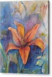 Glorius Lily Acrylic Print by Joyce Kanyuk