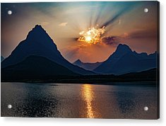 Acrylic Print featuring the photograph Glory At Many Glacier by Lon Dittrick