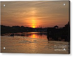 Glory Of The Morning On The Water Acrylic Print