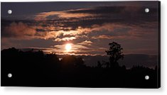Acrylic Print featuring the photograph Glory Train In The Sky by Diannah Lynch