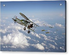 Acrylic Print featuring the digital art  Gloster Gladiator - Malta Defiant by Pat Speirs