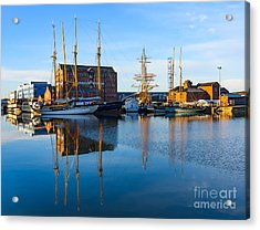 Acrylic Print featuring the photograph Gloucester Docks by Colin Rayner