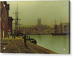 Gloucester Docks Acrylic Print by John Atkinson Grimshaw