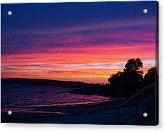Gloucester Harbor Beach Acrylic Print