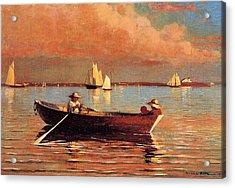 Gloucester Harbor Acrylic Print by Winslow Homer