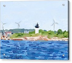 Gloucester Ma Skyline From Harbor Acrylic Print