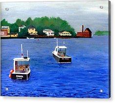 Glouster Paint Factory Acrylic Print by Dillard Adams