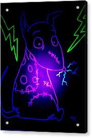 Glow Frankenweenie Sparky Acrylic Print