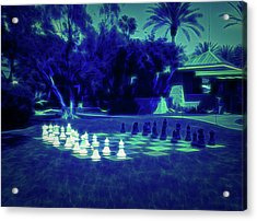 Acrylic Print featuring the photograph Glow In The Dark Chess At The Biltmore by Aimee L Maher Photography and Art Visit ALMGallerydotcom