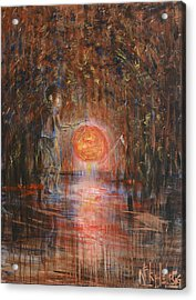 Acrylic Print featuring the painting Glow In The Dark by Nik Helbig