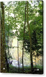 Glow Of Silence Acrylic Print by Isartdesign By Isabella Schnittger