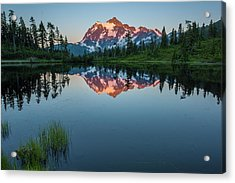 Glow Over Picture Lake Acrylic Print