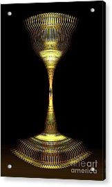 Glowing Brass Lamp Stand Acrylic Print