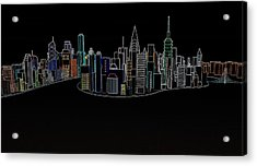 Glowing City Acrylic Print