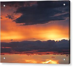 Glowing Clouds Acrylic Print