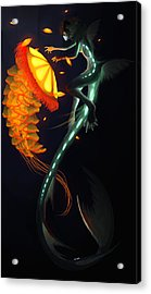 Glowing Depths Acrylic Print by Nicki Lagaly