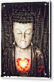 Glowing Heart Acrylic Print