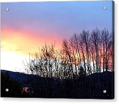 Acrylic Print featuring the photograph Glowing Kalamalka Lake by Will Borden