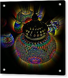 Glowing Lanterns Acrylic Print