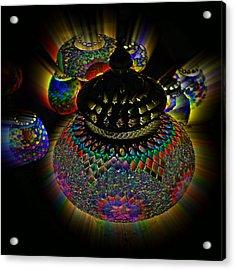 Glowing Lanterns Acrylic Print by Digital Art Cafe