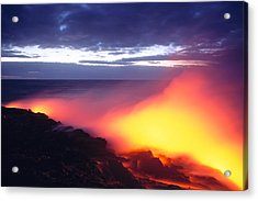Glowing Lava Flow Acrylic Print by William Waterfall - Printscapes