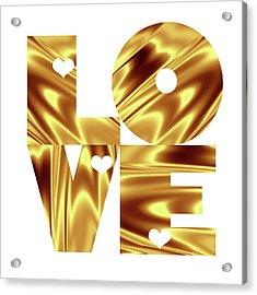Glowing Love - Gold  Acrylic Print